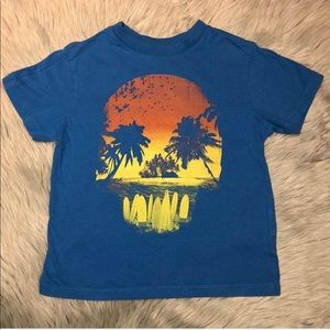 Children's Place Blue Skull Island Graphic Tee 5/6